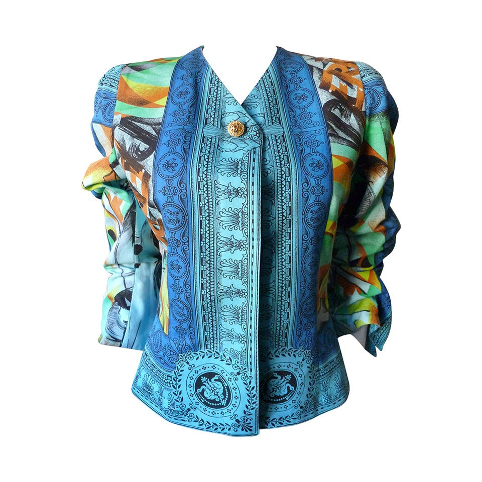 Gianni versace couture pop art printed jacket spring 1991 for What s a couture pop