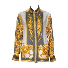 Vintage Gianni Versace Baroque Print Shirt, 1992