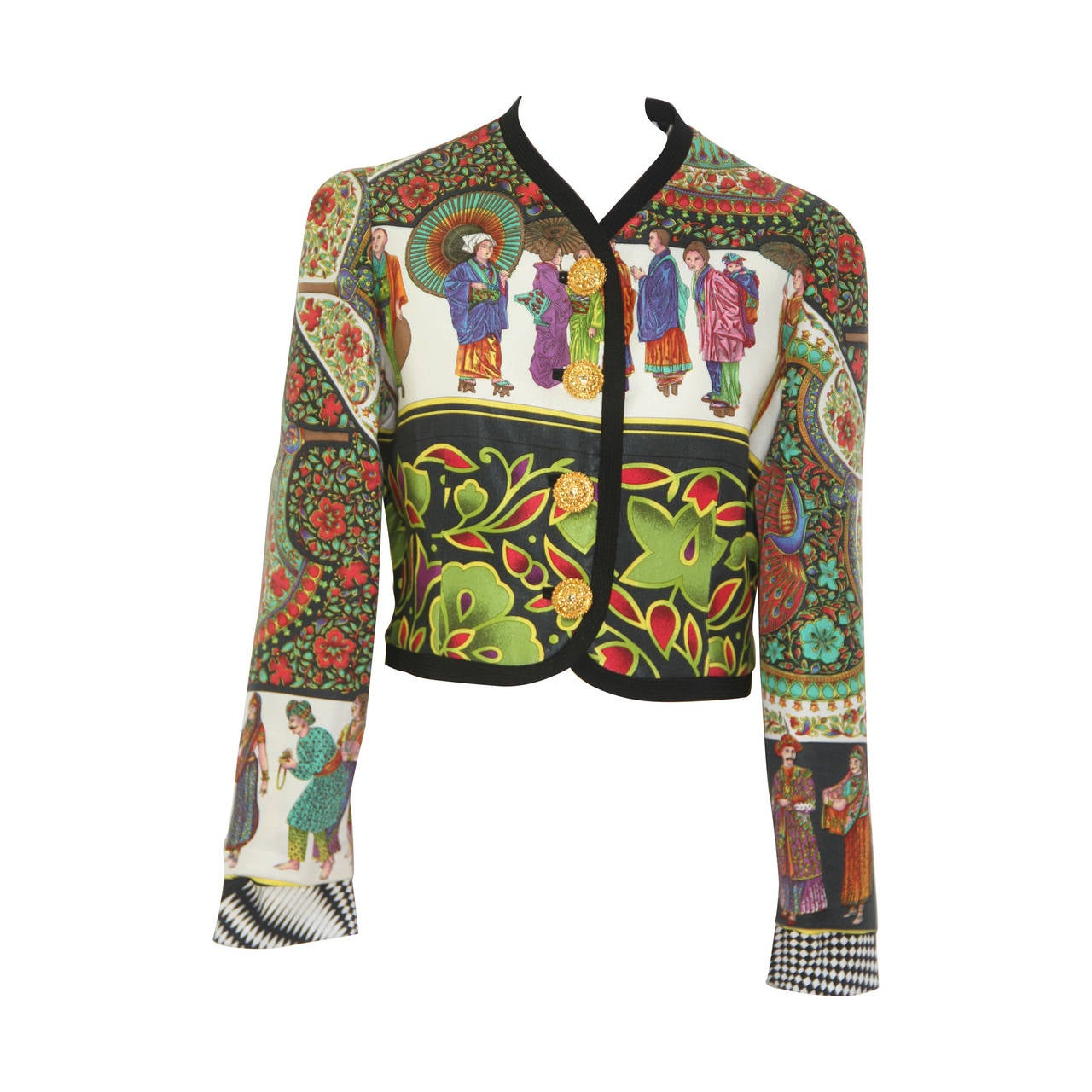 Gianni Versace Chinese Inspired Printed Jacket Spring 1992 ...
