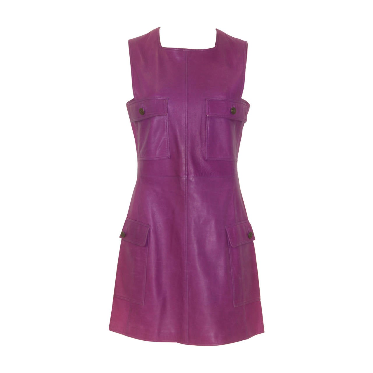 Gianni Versace Leather Pinafore Dress Fall 1995 At 1stdibs