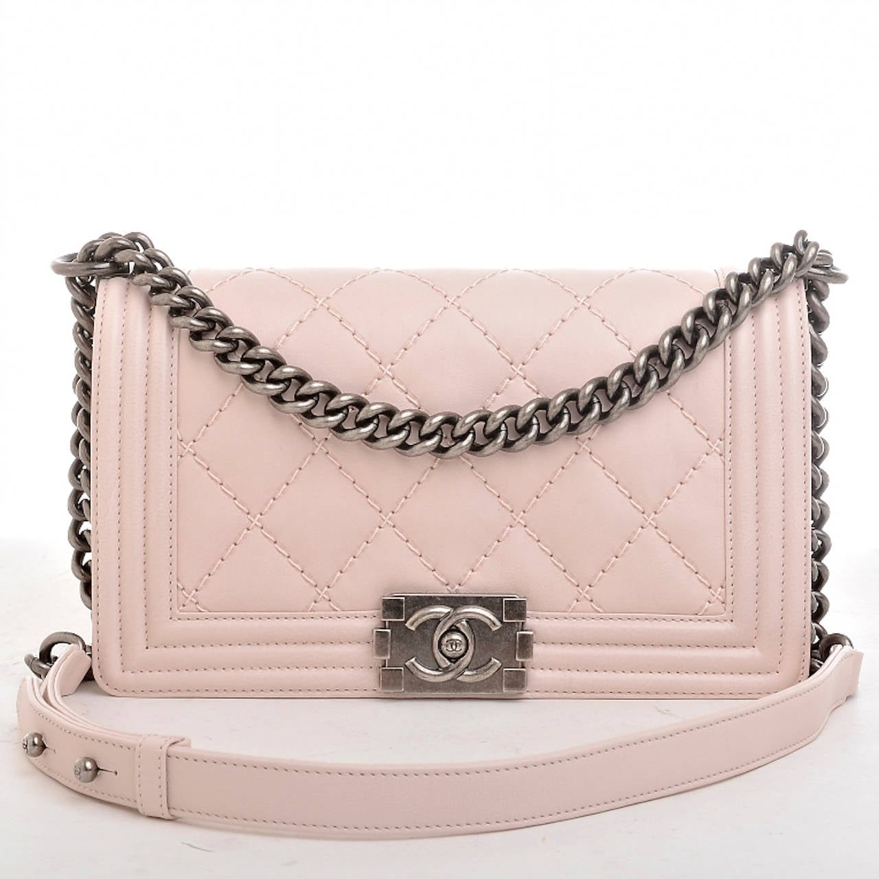 Chanel Baby Pink Quilted Medium Boy Bag at 1stdibs 63188303046e2