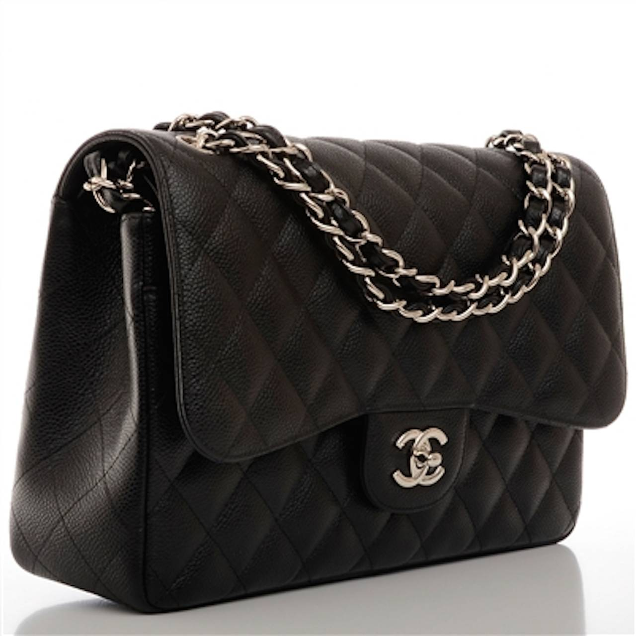 1d20e2637975 Chanel Black Quilted Caviar Jumbo Classic Flap Bag | Mount Mercy ...