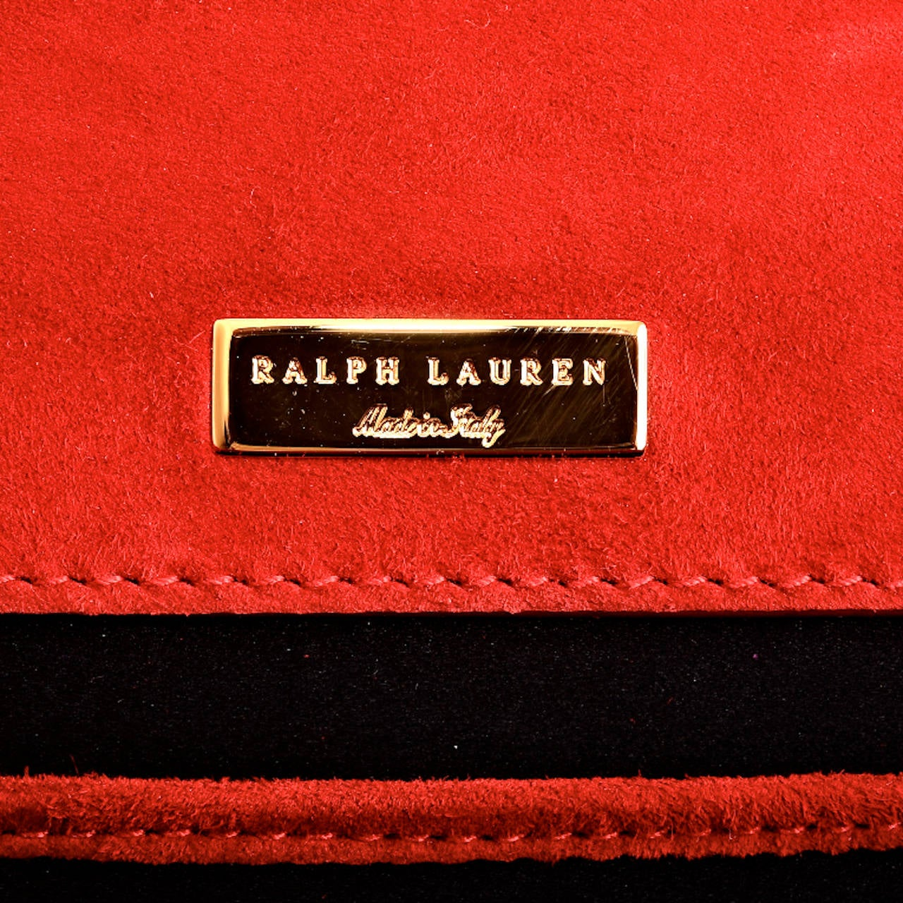 Ralph Lauren Red Suede Ricky Chain Bag For Sale 4