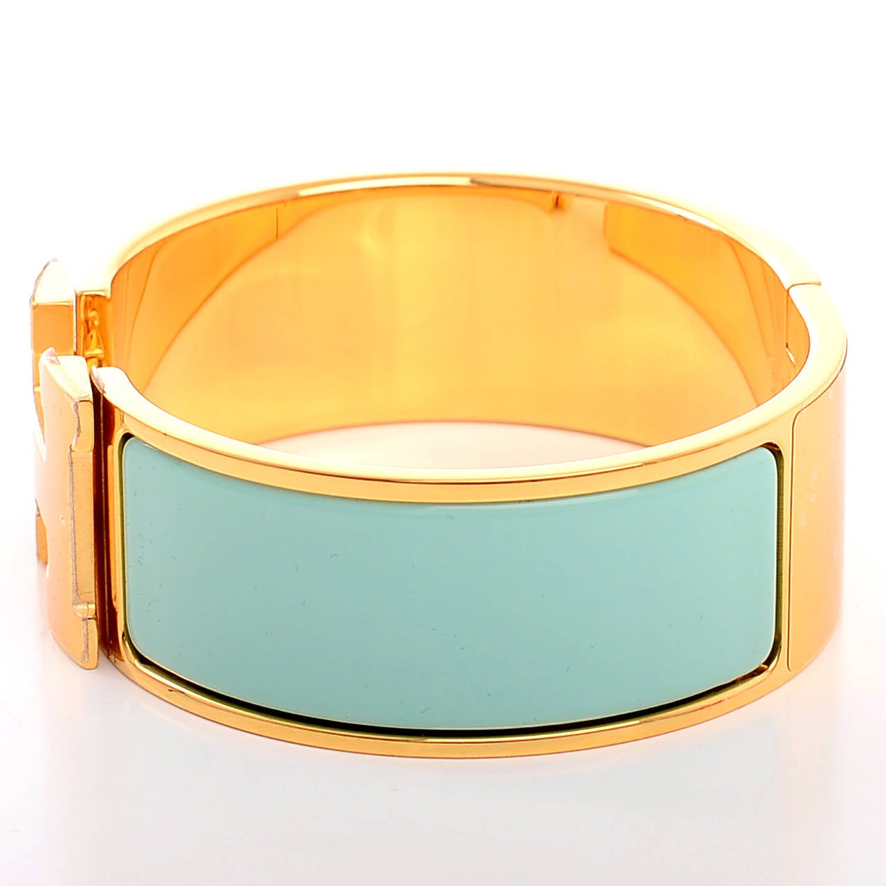 Hermes lagoon clic clac h wide enamel bracelet pm at 1stdibs - Dimensions clic clac ...