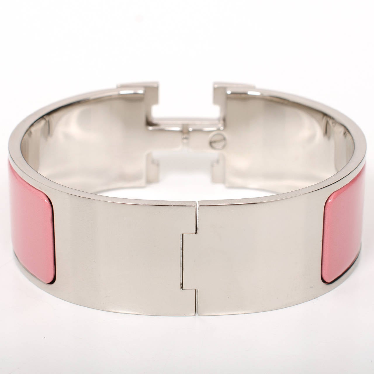 Hermes rose pagoda white h clic clac h wide enamel for Housse clic clac new york