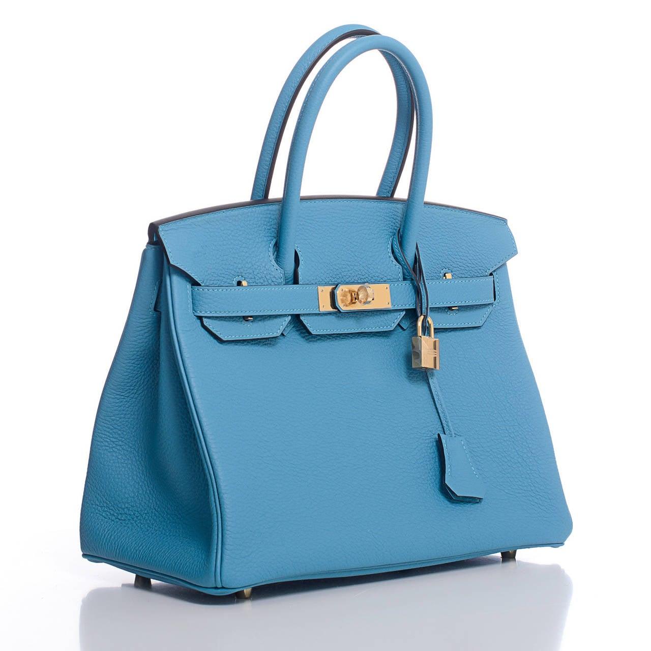 hermes replica bags - hermes birkin 30 togo turquoise gold hardware., hermes bucket bag