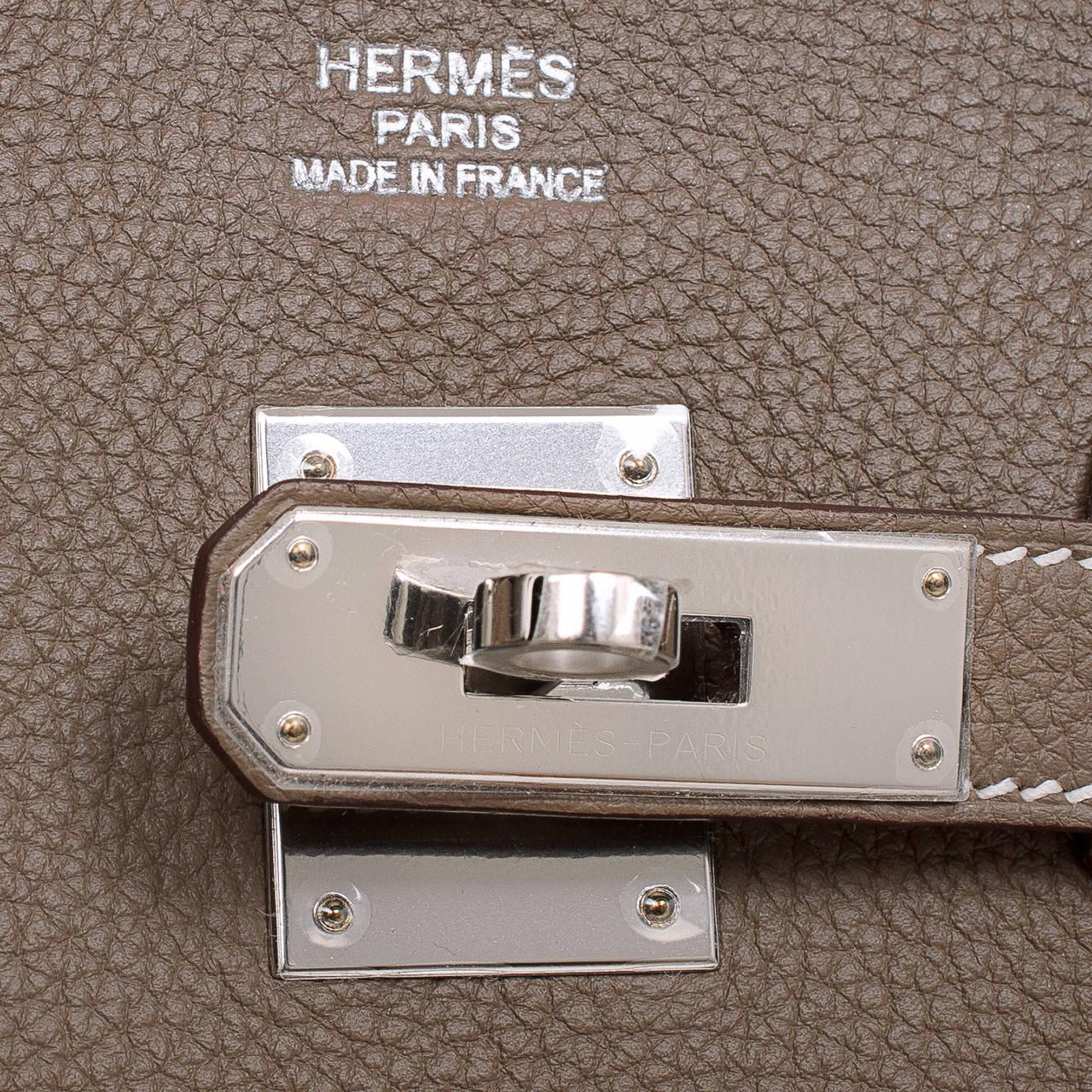 Hermes Black Togo Birkin 35cm Palladium Hardware