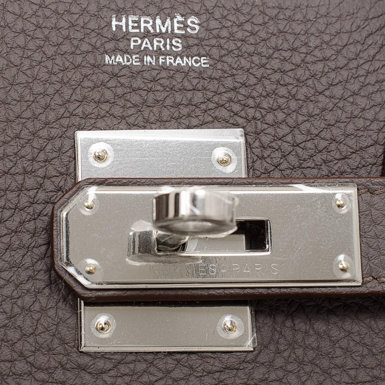 replica hermes birkin 40 - Hermes Etain Togo Birkin 30cm Palladium Hardware at 1stdibs