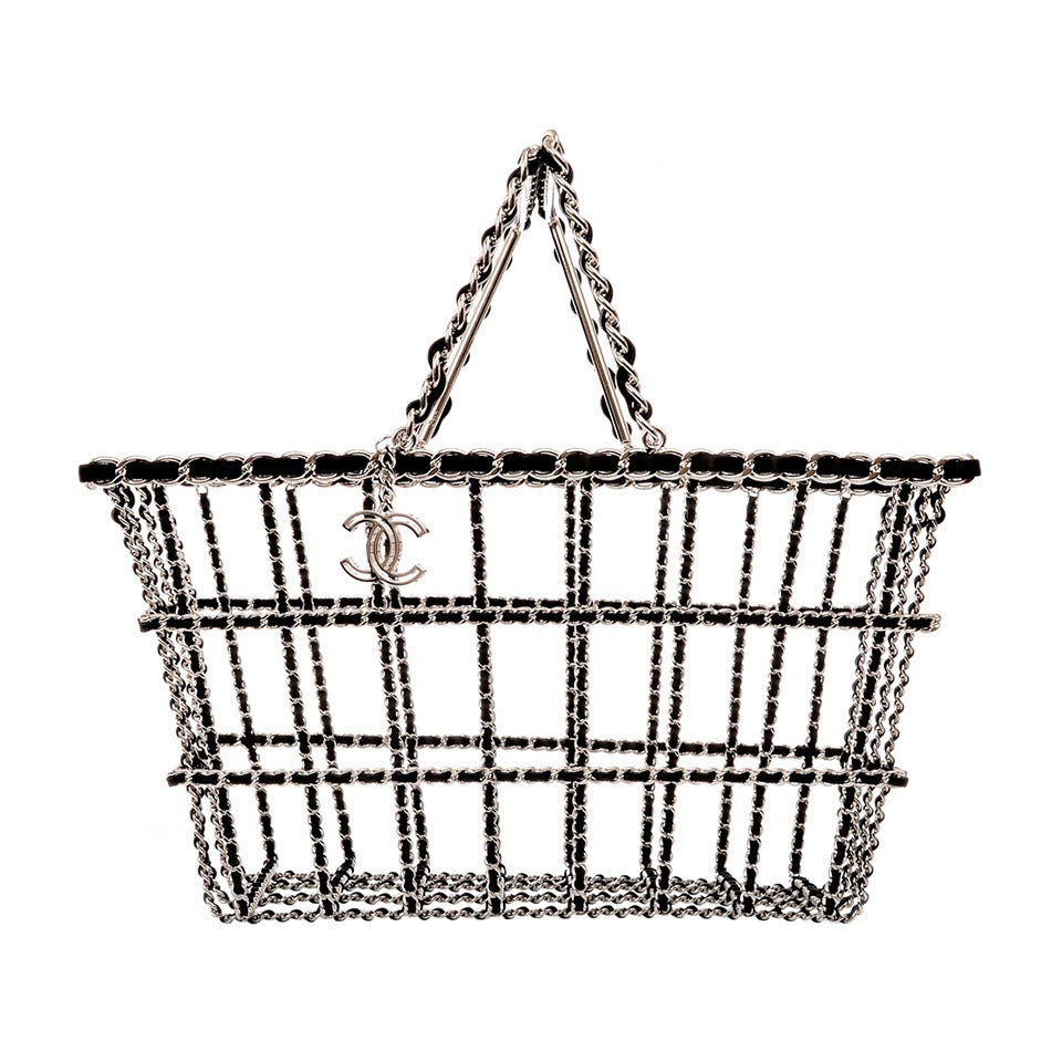 Chanel Limited Edition Shopping Cart Basket For Sale