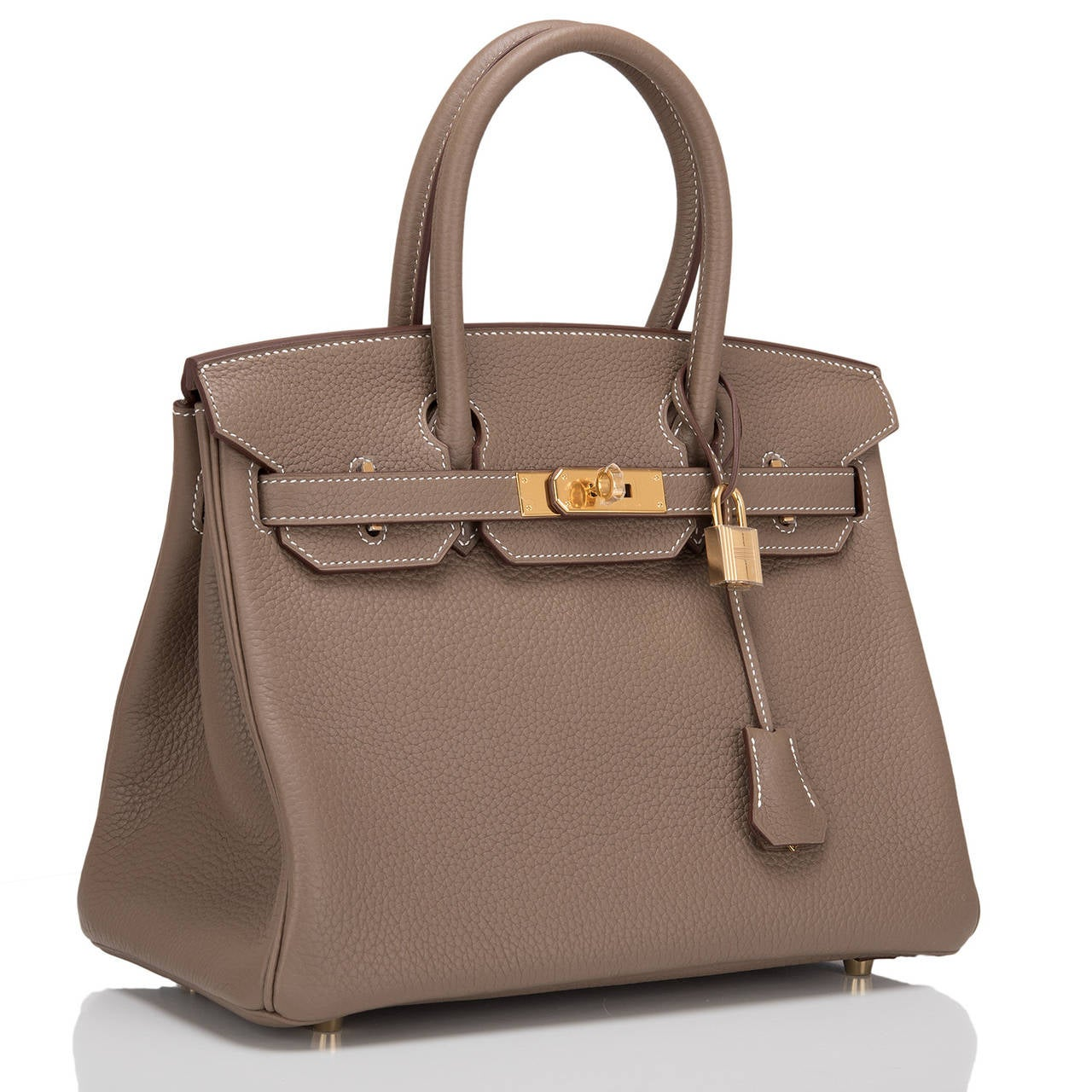 different styles of hermes bags - Hermes Etoupe Clemence Birkin 30cm Gold Hardware at 1stdibs