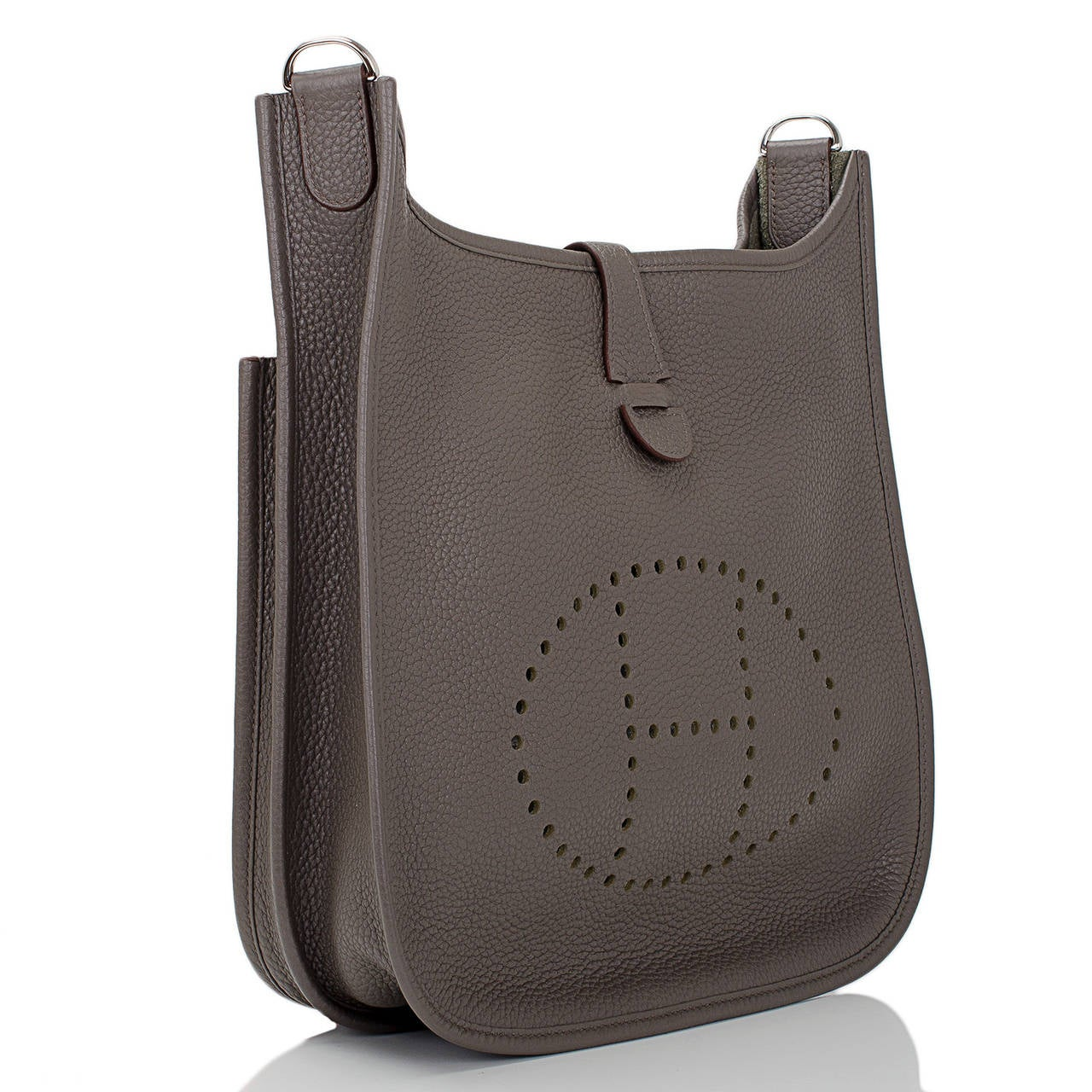 long purse - Hermes Etain Clemence Evelyne III PM at 1stdibs