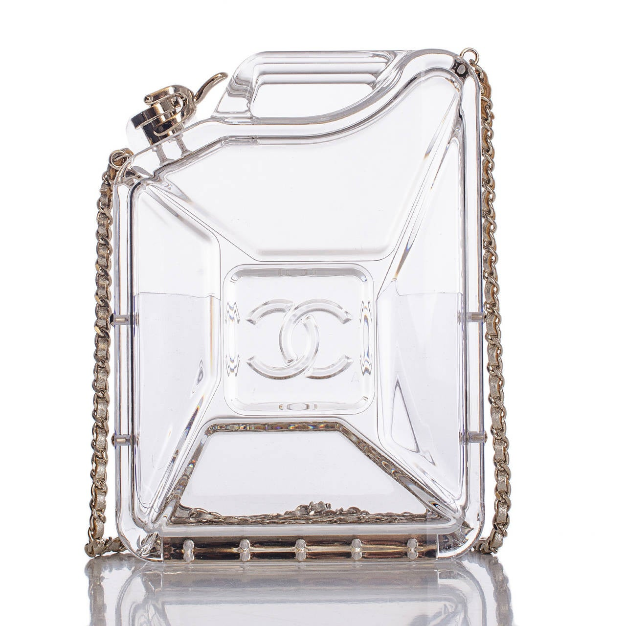Chanel Dubai By Night Gas Tank Minaudiere Bag In New never worn Condition For Sale In New York, NY
