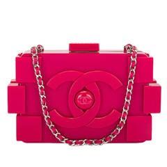 Chanel Fuchsia Pink Lego Clutch Boy Bag NEW
