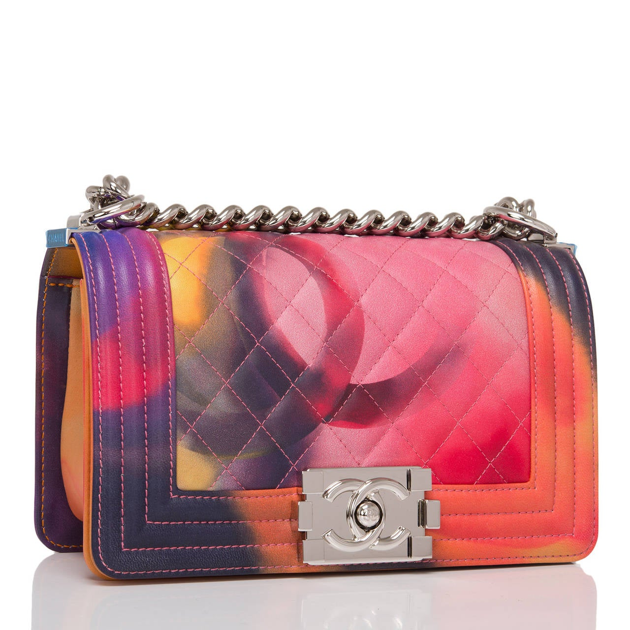 Chanel Flower Power Small Boy Bag At 1stdibs