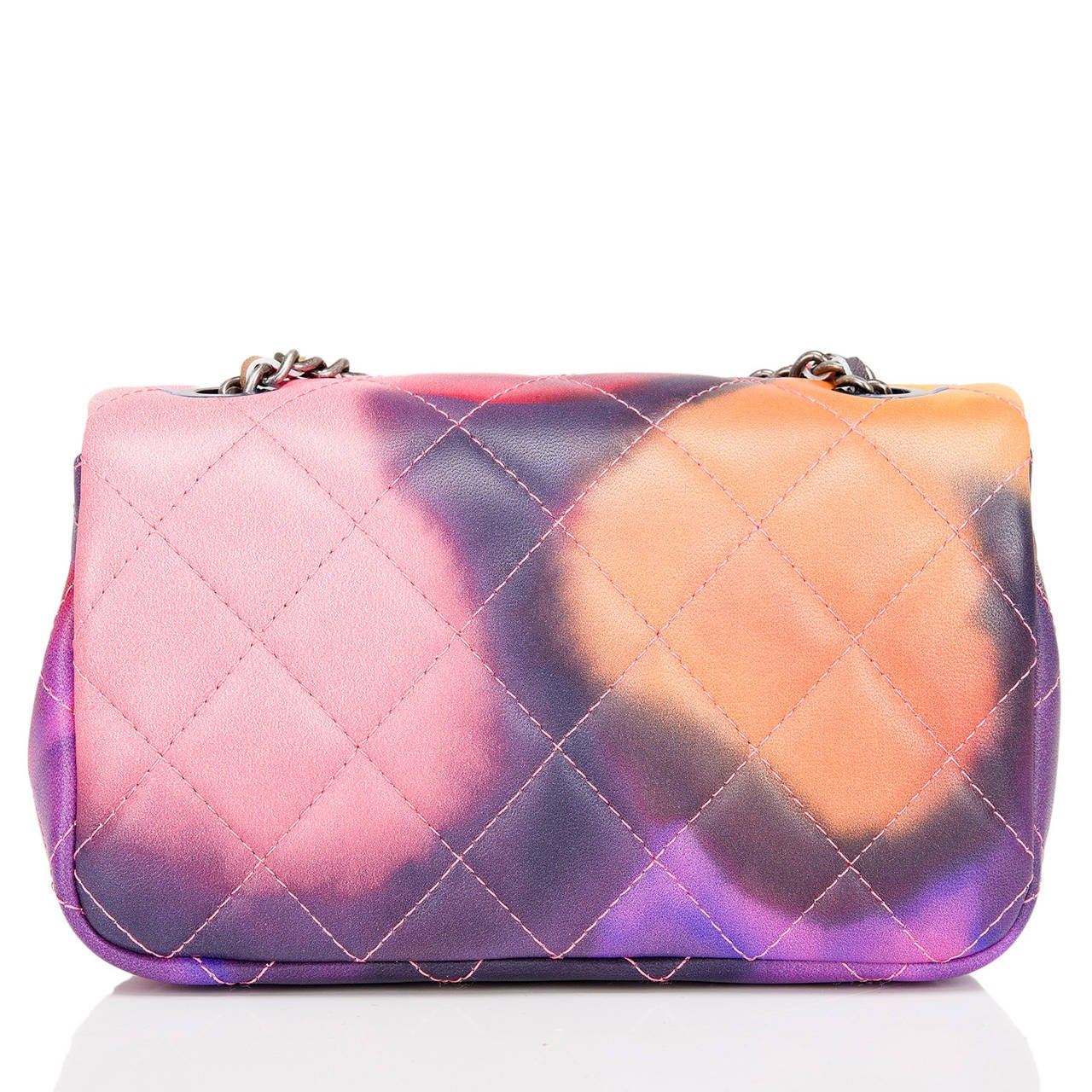 Pink Chanel Flower Power Mini Flap Bag For Sale