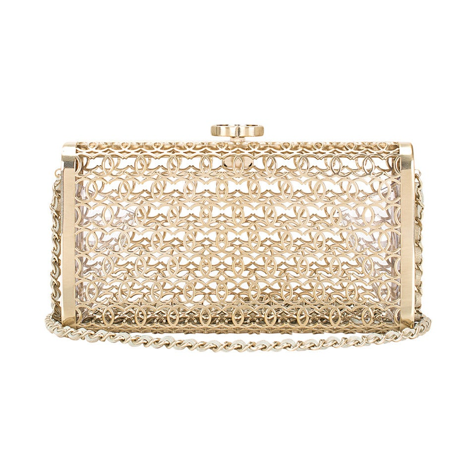 Chanel metal moucharabieh minaudiere bag at 1stdibs - Moucharabieh metaal ...