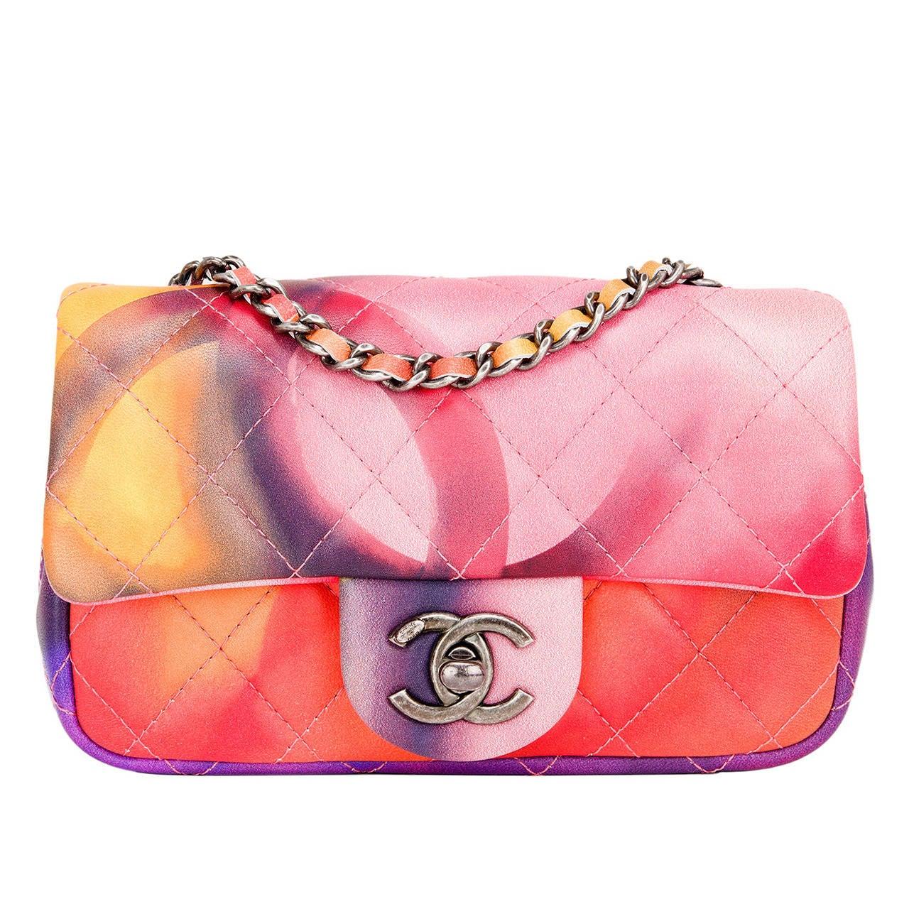 Chanel Flower Power Mini Flap Bag For Sale