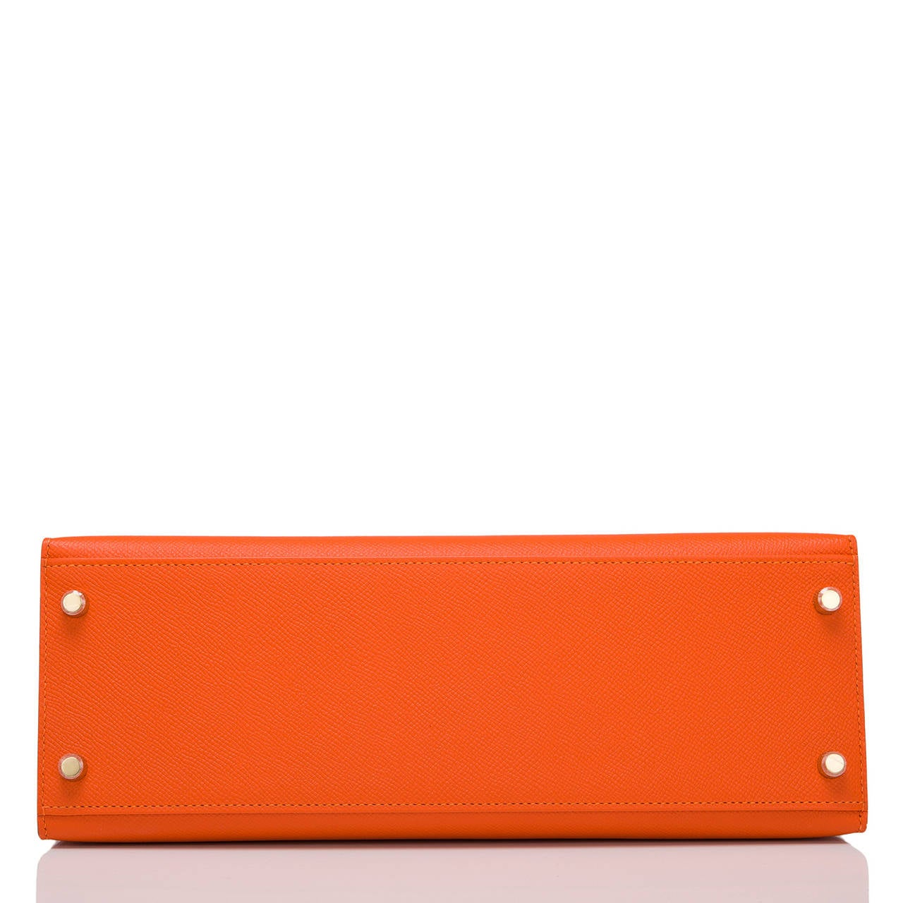 Hermes Orange H Epsom Kelly Sellier 32cm In New never worn Condition For Sale In New York, NY
