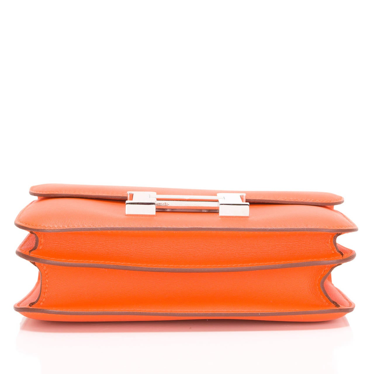 hermes orange h swift mini constance 18cm