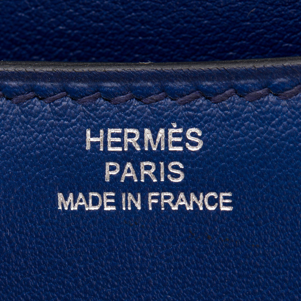Hermes Blue Sapphire Swift Mini Constance 18cm For Sale 1