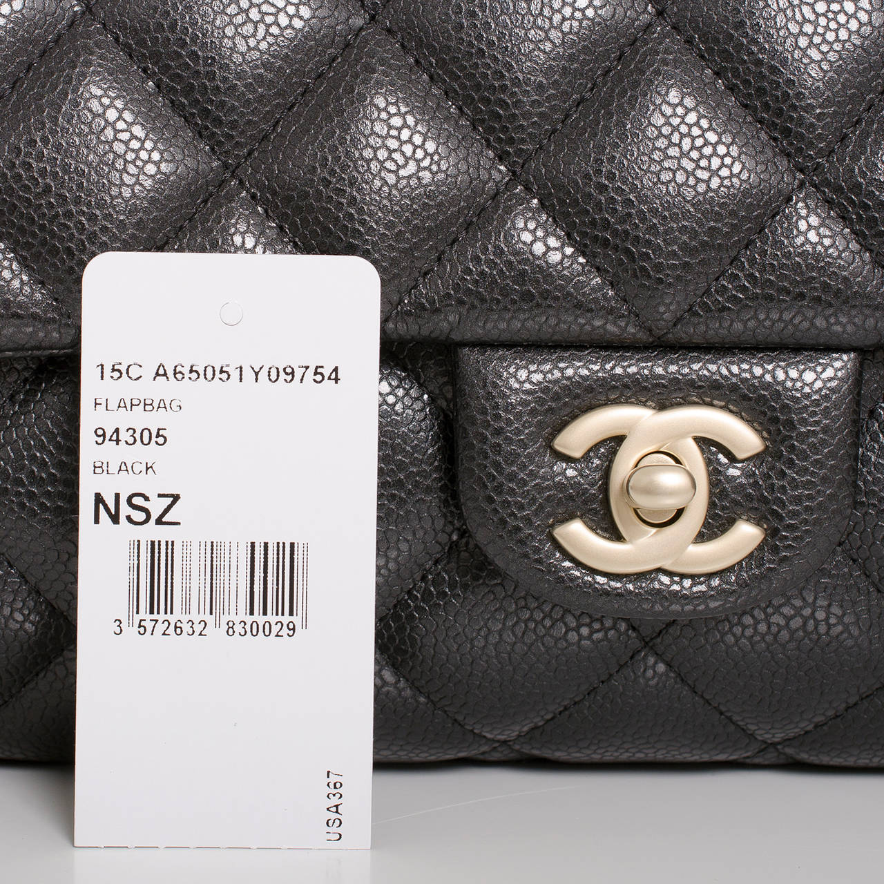 Chanel Black Quilted Caviar New Clutch With Chain For Sale 3