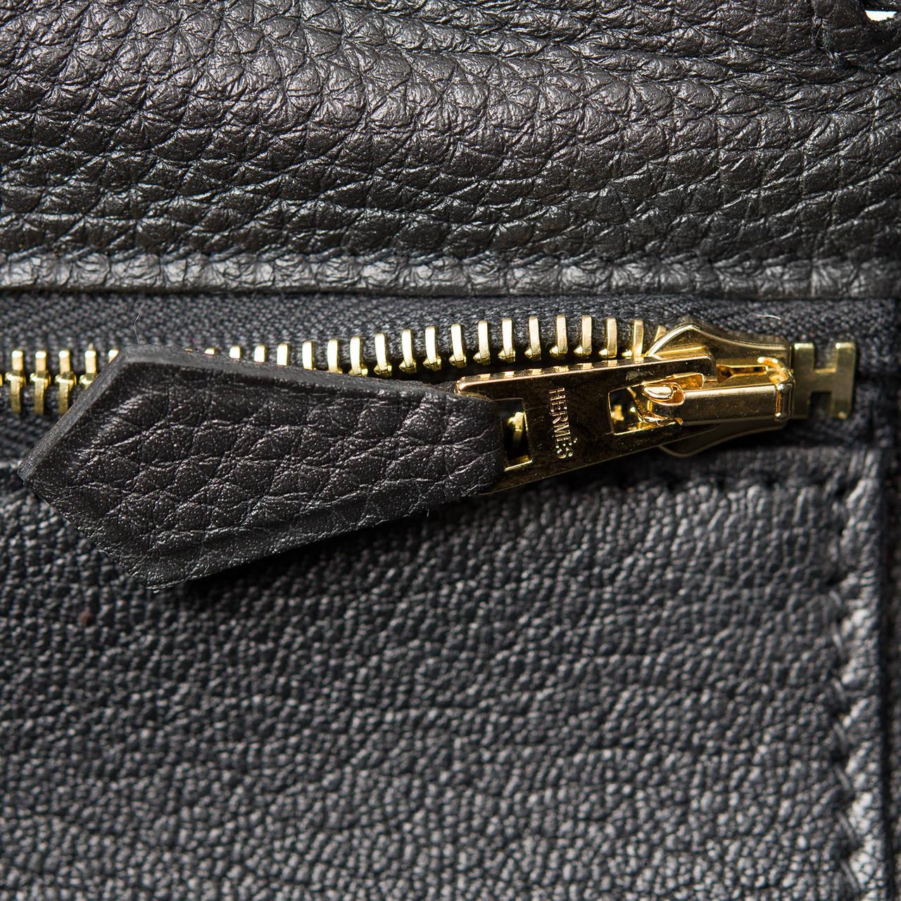 Hermes Black Togo Kelly 32cm Gold Hardware