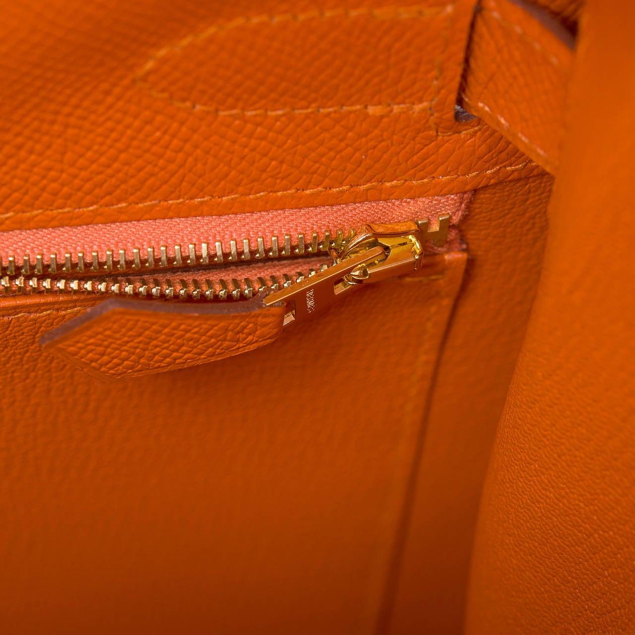 Hermes Orange H Epsom Kelly Sellier 32cm For Sale 2