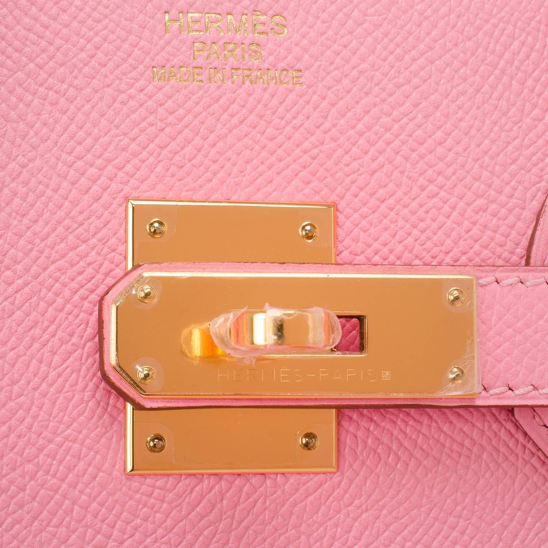 hermes kelly bag 25cm rose sakura swift gold hardware