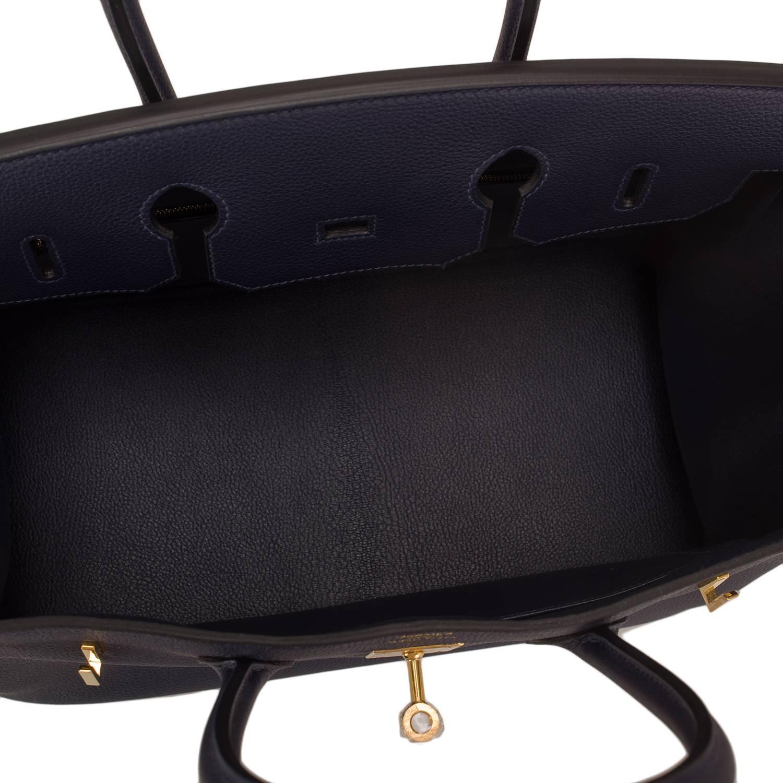 694844821581 Hermes Blue Nuit Togo Birkin 35cm Gold Hardware For Sale at 1stdibs