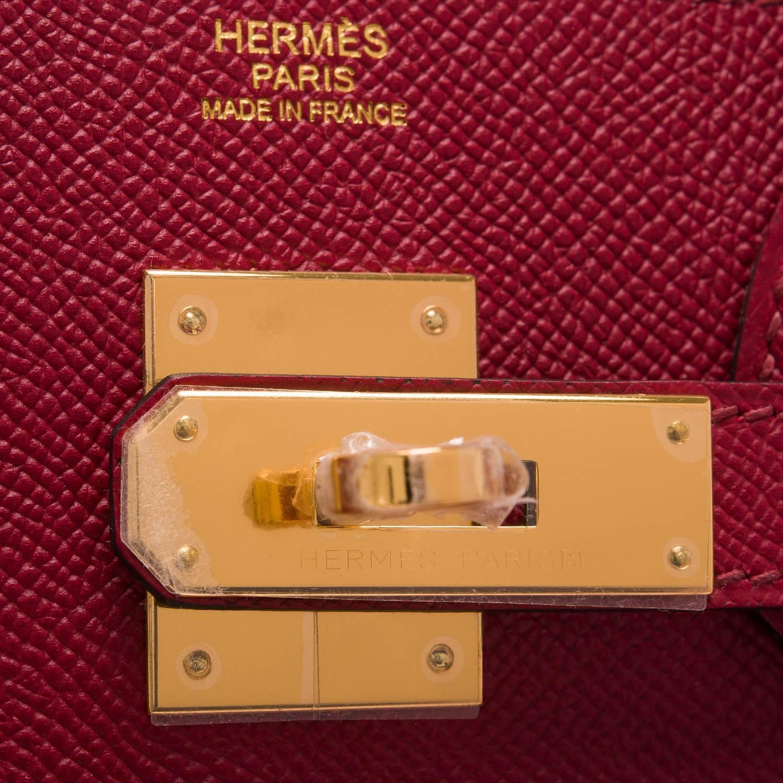 Hermes Rouge Grenat Epsom Birkin 30cm Gold Hardware For Sale at ...