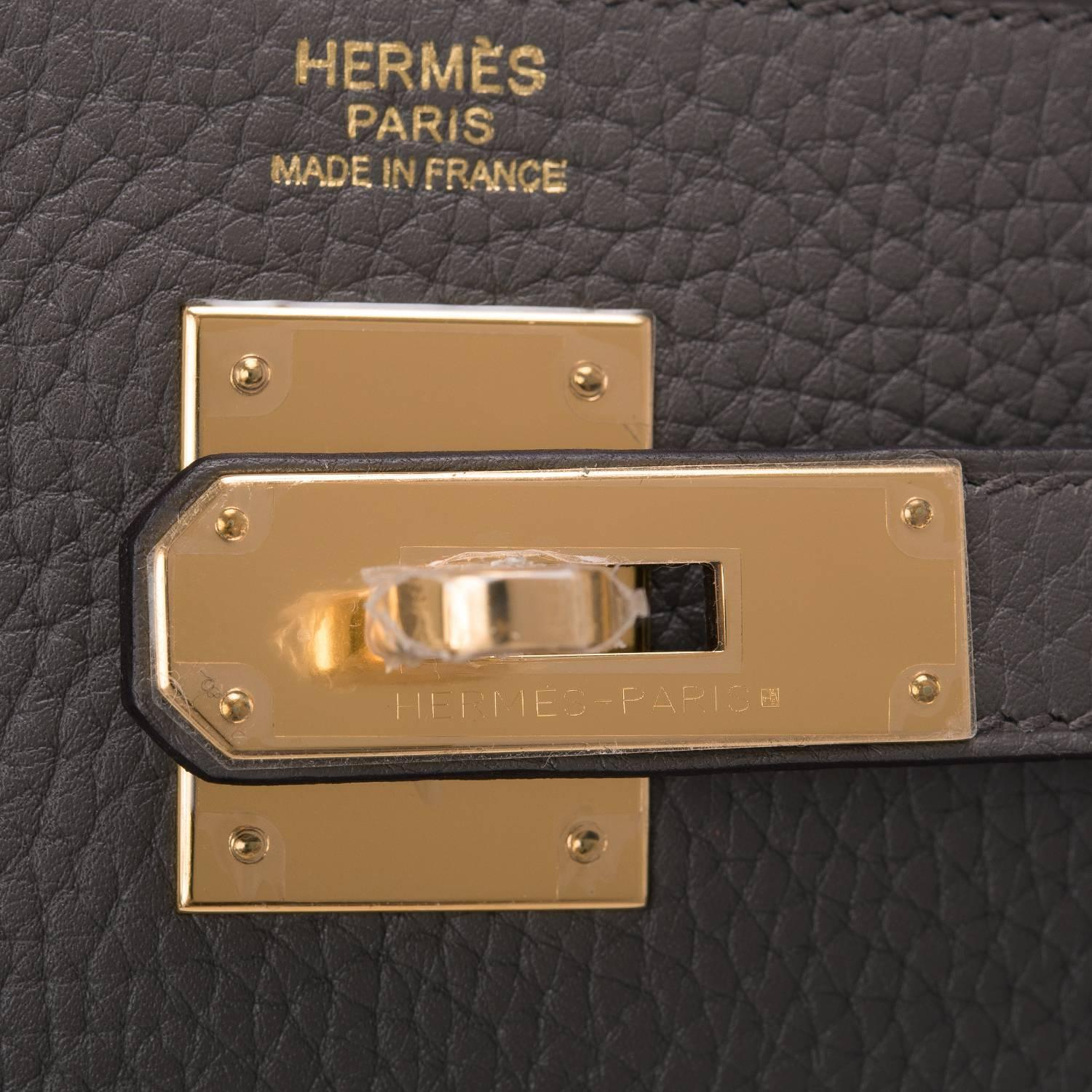 different styles of hermes bags - Hermes Etain Clemence Kelly 32cm Gold Hardware at 1stdibs