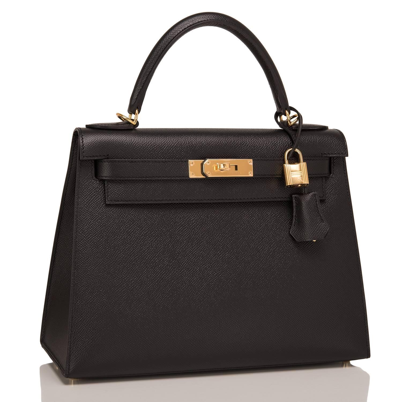 hermes paris wallet - Hermes Black Epsom Sellier Kelly 28cm Gold Hardware For Sale at ...