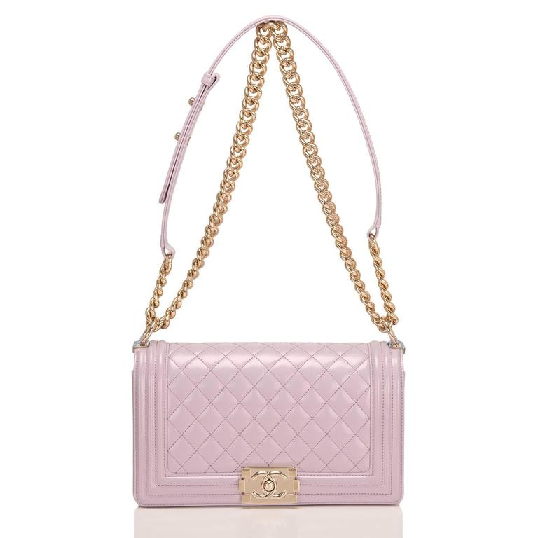 Chanel Light Iridescent Calfskin Medium Boy Shoulder Bag For Sale 1