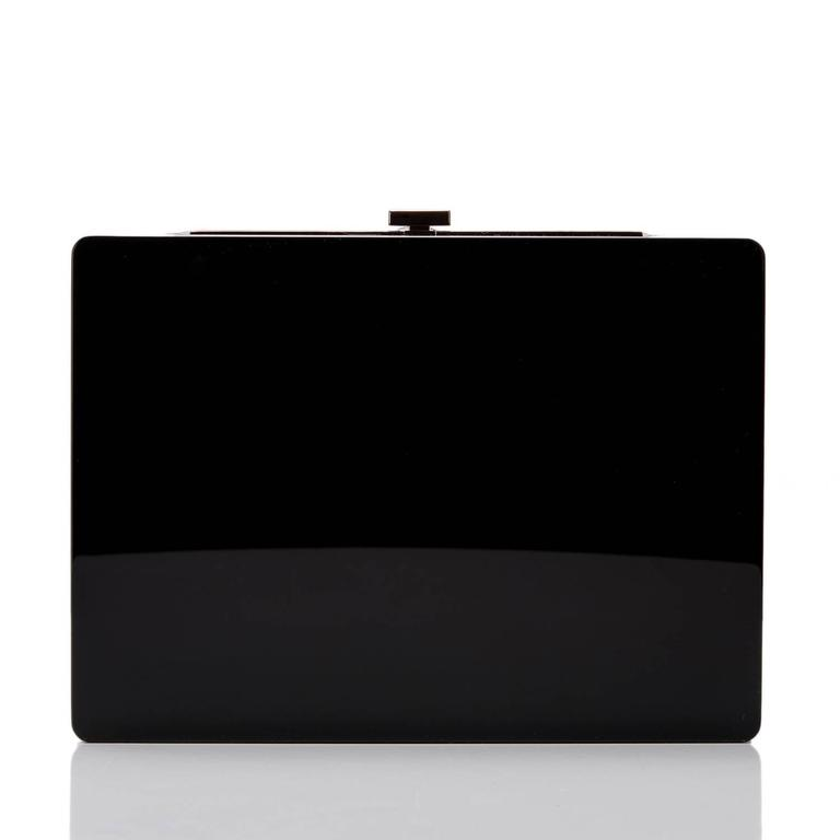 Chanel CC Plexiglass Minaudiere  In New Never_worn Condition For Sale In New York, NY