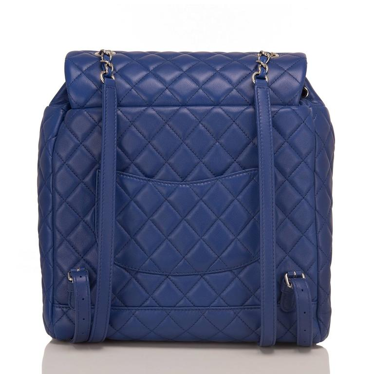 Purple Chanel Urban Spirit Blue Quilted Lambskin Large Backpack For Sale
