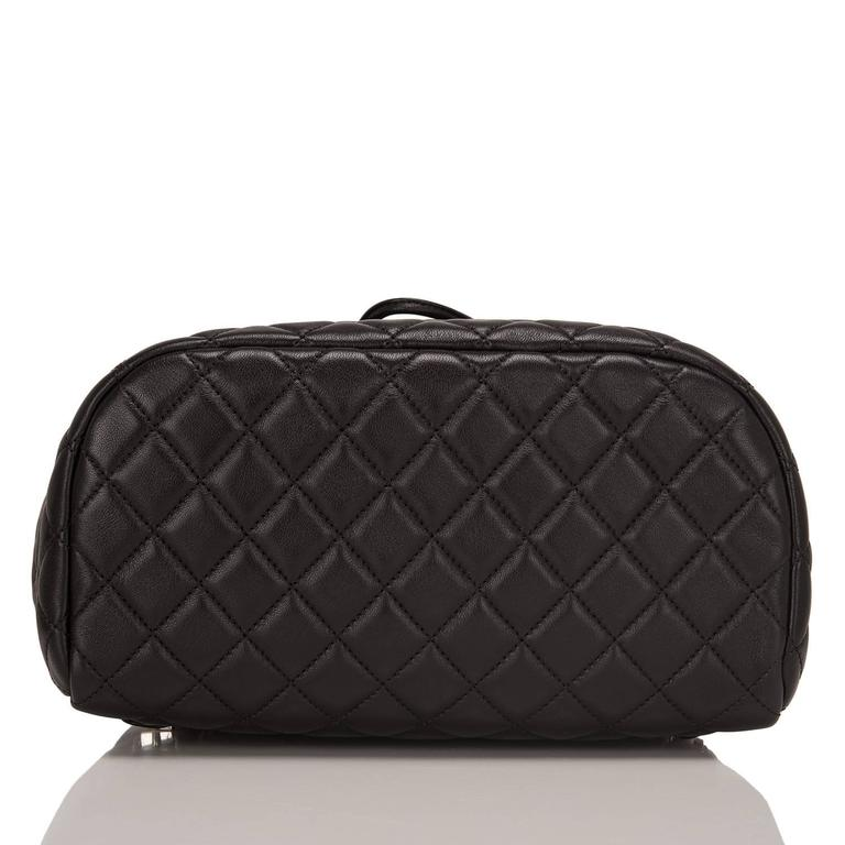 Women's Chanel Urban Spirit Black Quilted Lambskin Large Backpack For Sale