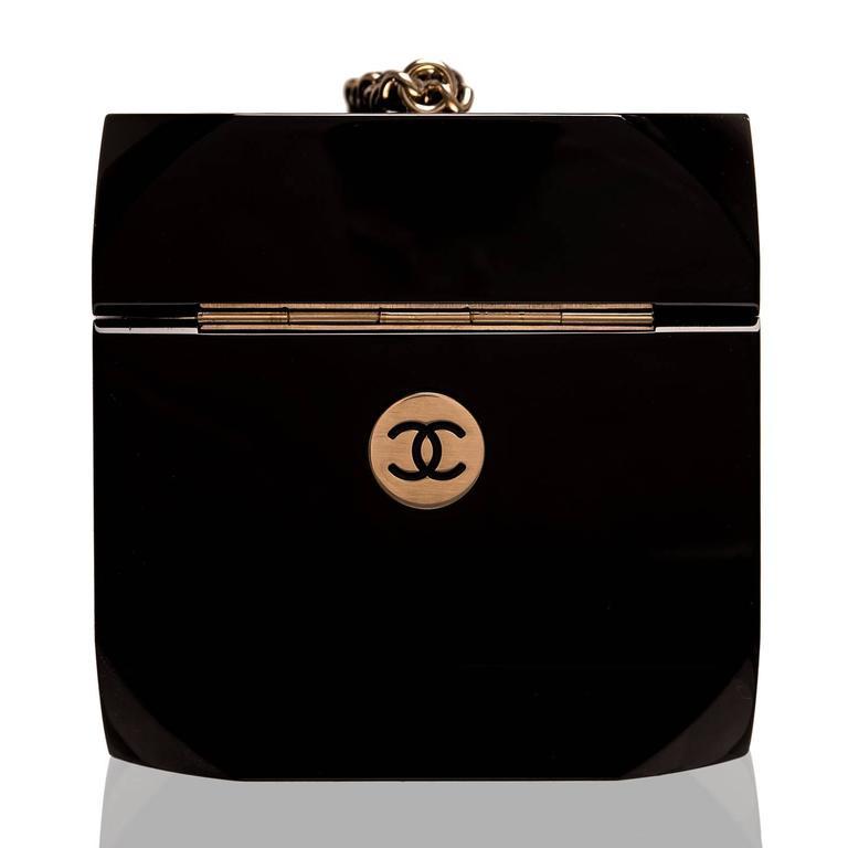 "Black Chanel ""Dice"" Casino Minaudiere Bag For Sale"