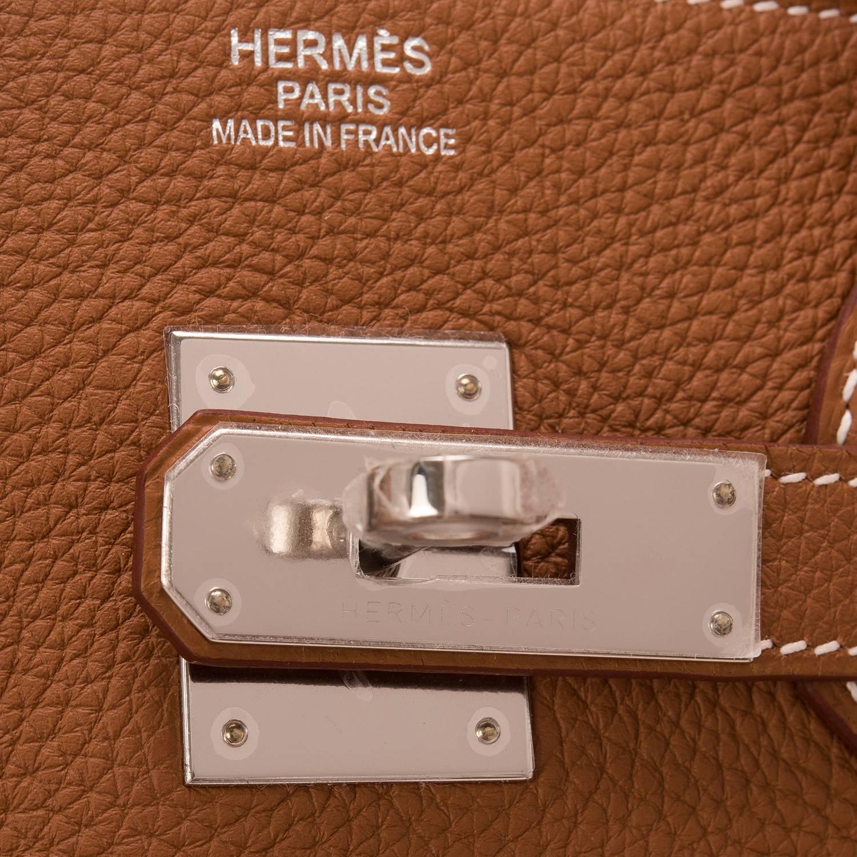 Hermes 40cm Black Special Order Horseshoe Togo Leather Birkin Bag