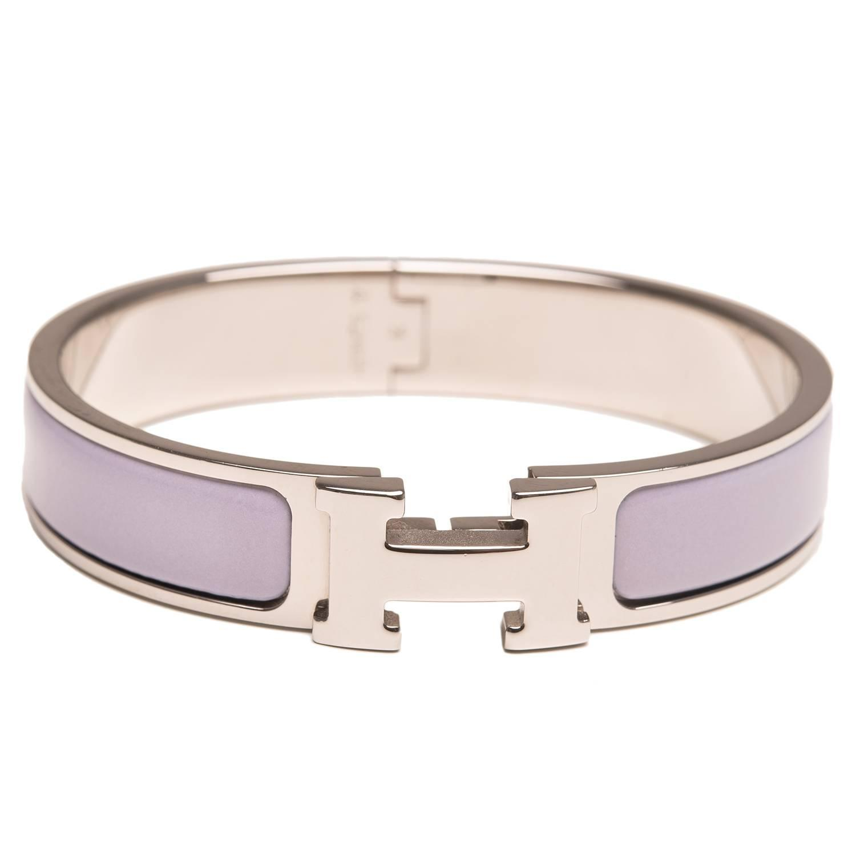 hermes griolet clic clac h narrow enamel bracelet pm at 1stdibs
