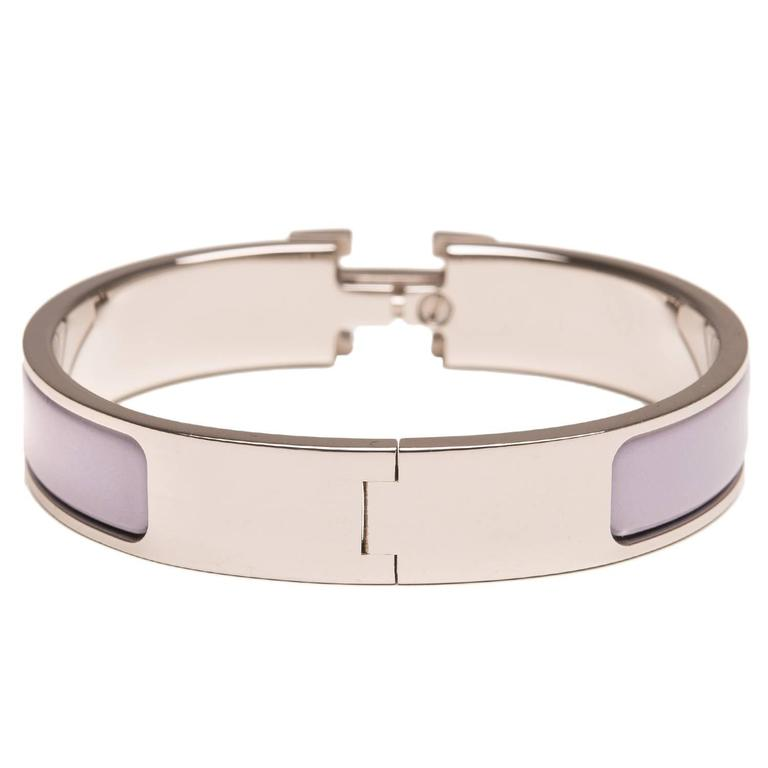 Hermes griolet clic clac h narrow enamel bracelet pm at for Housse clic clac new york