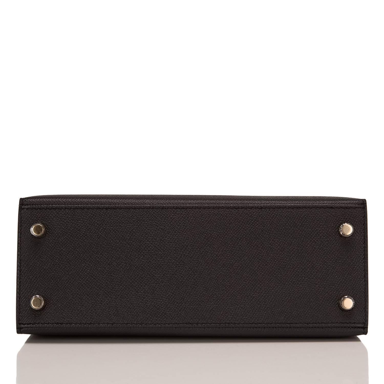 Hermes Black Epsom Sellier Kelly 25cm Gold Hardware