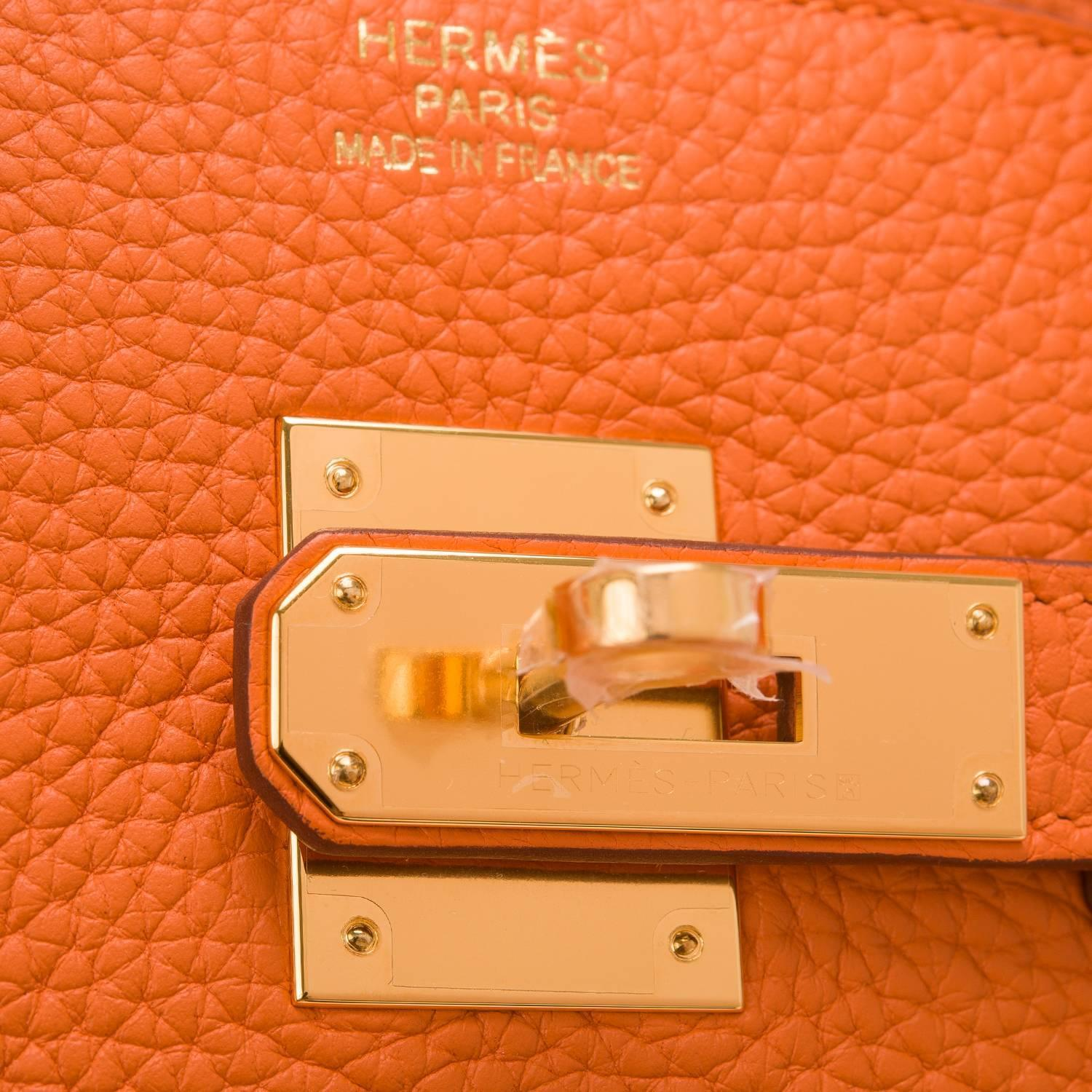 birkin bag replica cheap - Hermes Orange Clemence Birkin 35cm Gold Hardware at 1stdibs