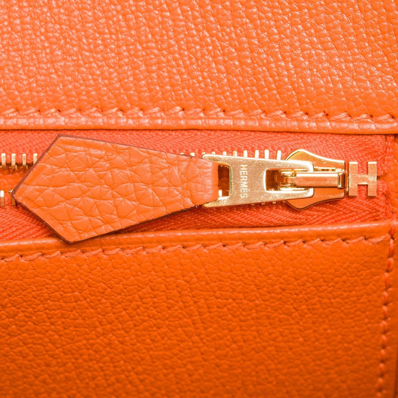 best replica birkin bags - Hermes Orange Clemence Birkin 35cm Gold Hardware at 1stdibs