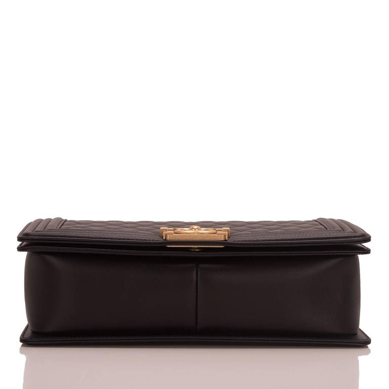 Women's Chanel Black Lambskin New Medium Boy Bag For Sale