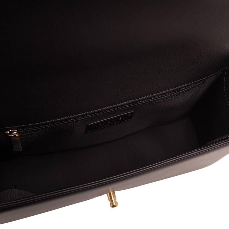 Chanel Black Lambskin New Medium Boy Bag For Sale 2