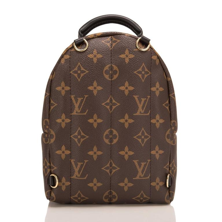 Black Louis Vuitton Palm Springs Backpack Mini For Sale