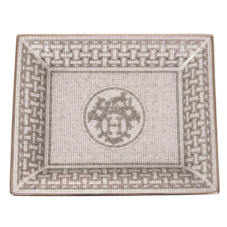 hermes mosa que au 24 platinum tray at 1stdibs. Black Bedroom Furniture Sets. Home Design Ideas