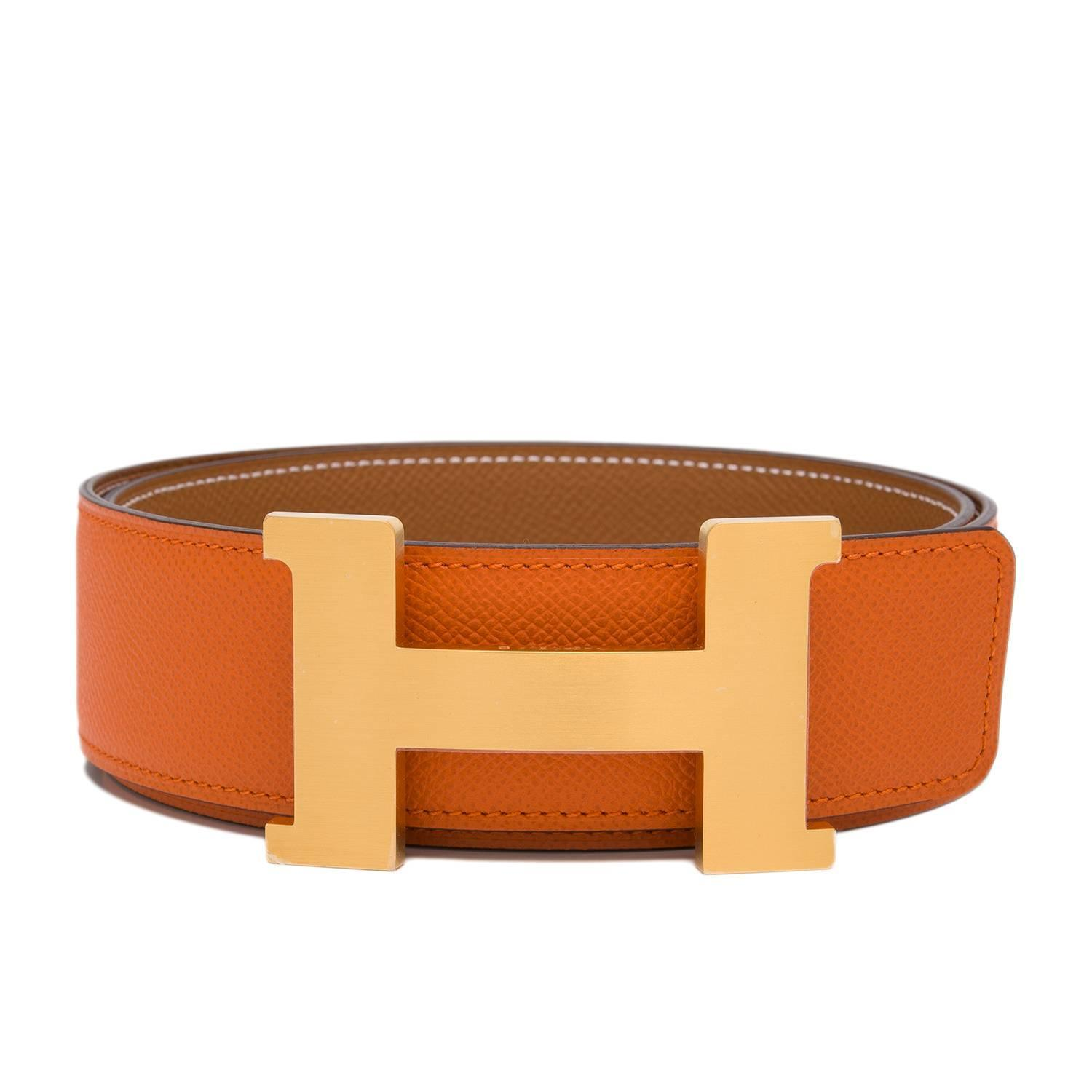 Hermes Reversible H Belt 65 in Black and Red