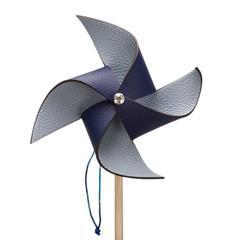 Hermes Petit H Blue Sapphire Epsom and Blue Lin Togo Pinwheel