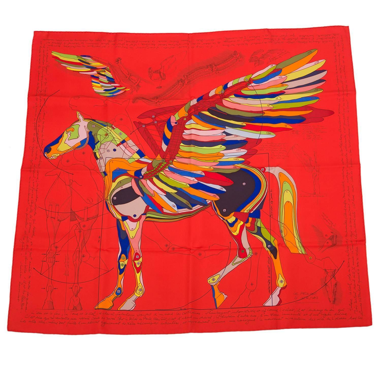hermes quot la pegase d hermes quot silk twill scarf 90cm for sale